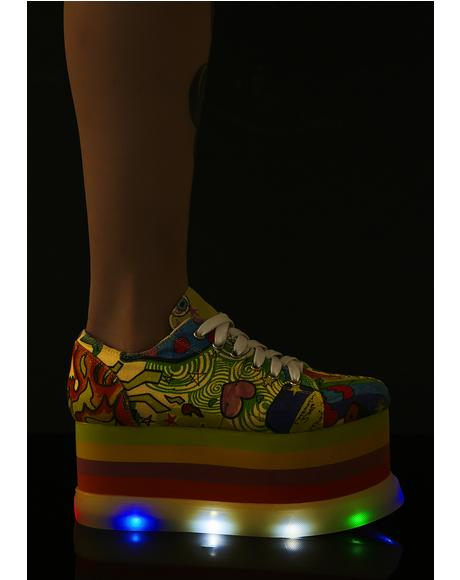 Distort Ur Reality Light Up Sneakers