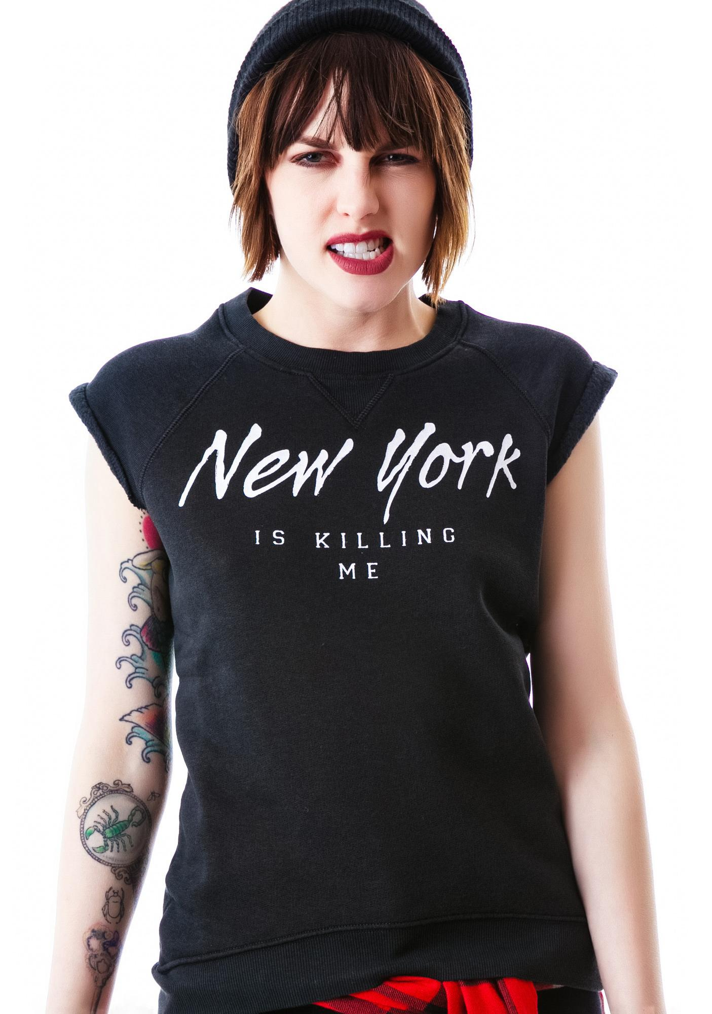 Zoe Karssen New York Is Killing Me Sleeveless Top