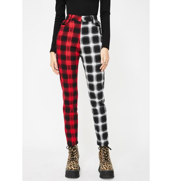 Jawbreaker Two Checkered Slim Trousers