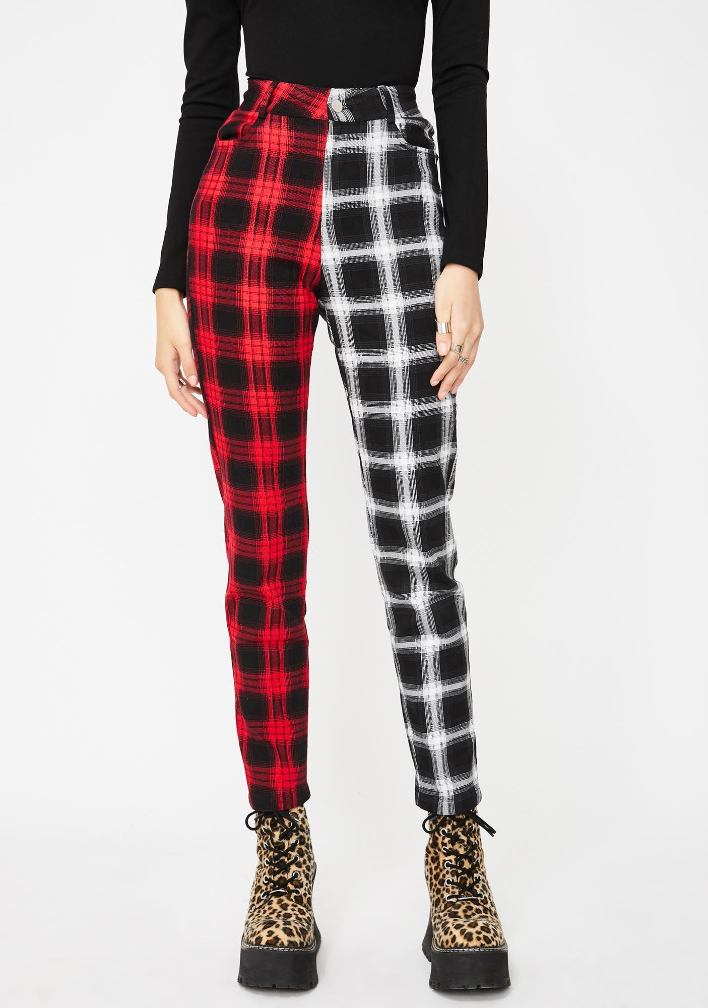 Jawbreaker Two Checkered Slim Trousers