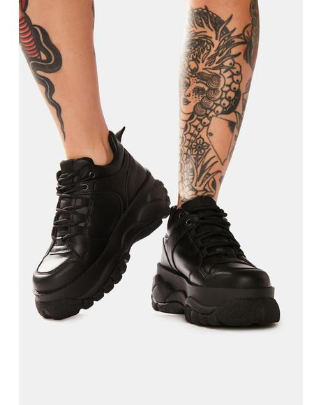 Black Mossi Chunky Platform Sneakers