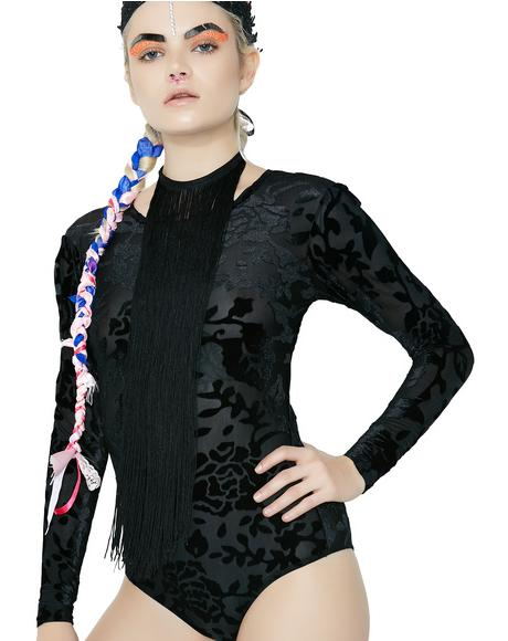 Roxy Floral Velvet Bodysuit