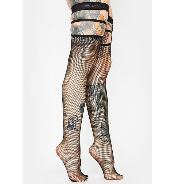 Haute Chicks Only Fishnet Tights