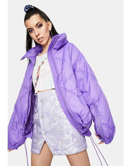 Mount Purple Puffer Jacket