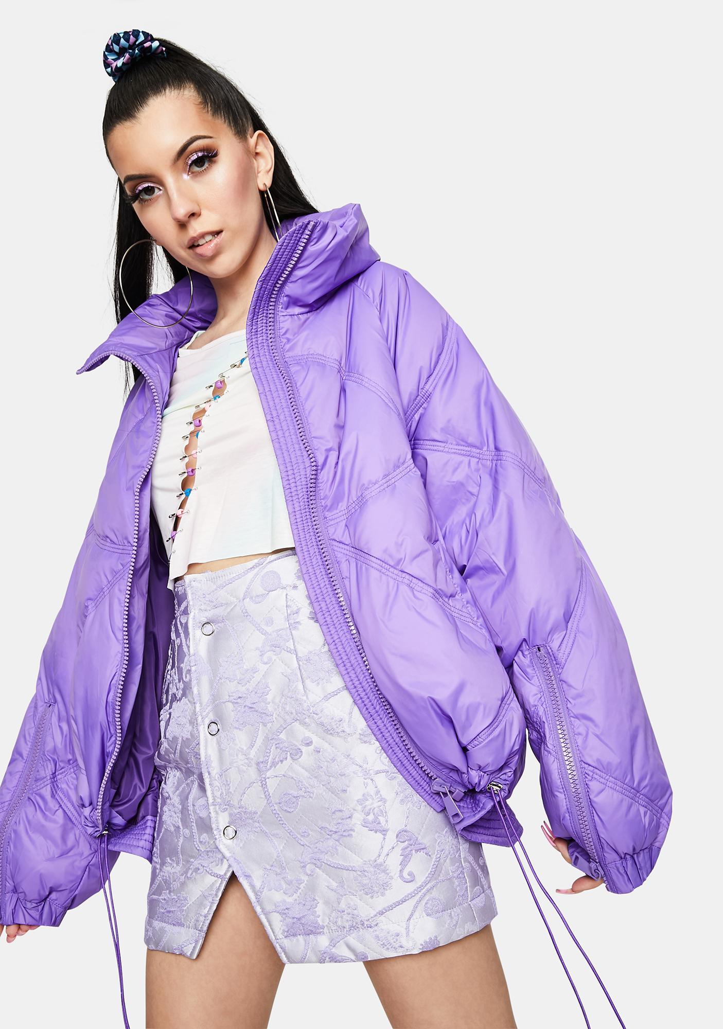 ZEMETA Mount Purple Puffer Jacket