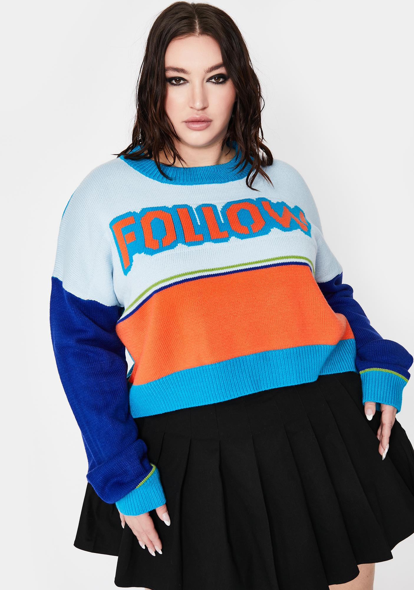 Current Mood Always Follow The Leader Knit Sweater