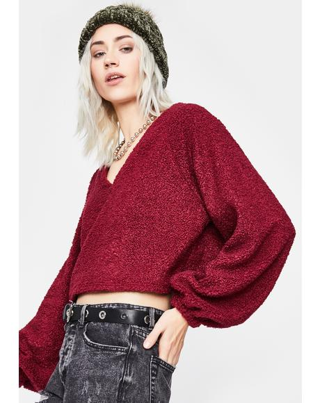 Hot Reckless Pursuit Crop Sweater