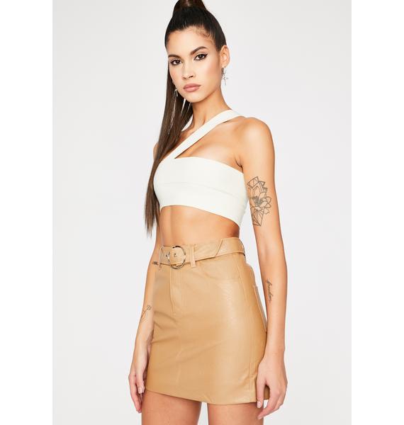 Tan Start Up Belted Skirt