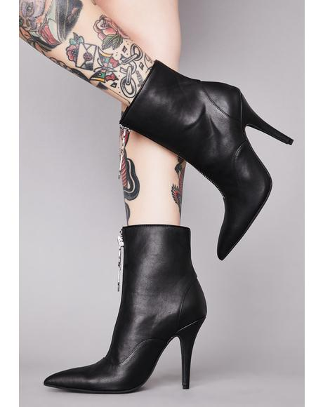 Unholy Devotion Ankle Booties