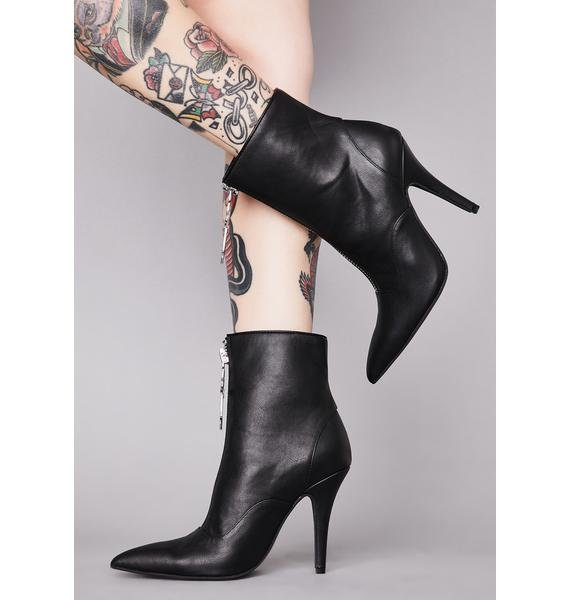 Widow Unholy Devotion Ankle Booties