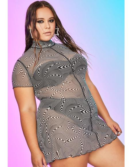 Infinite High Infidelity Mesh Dress