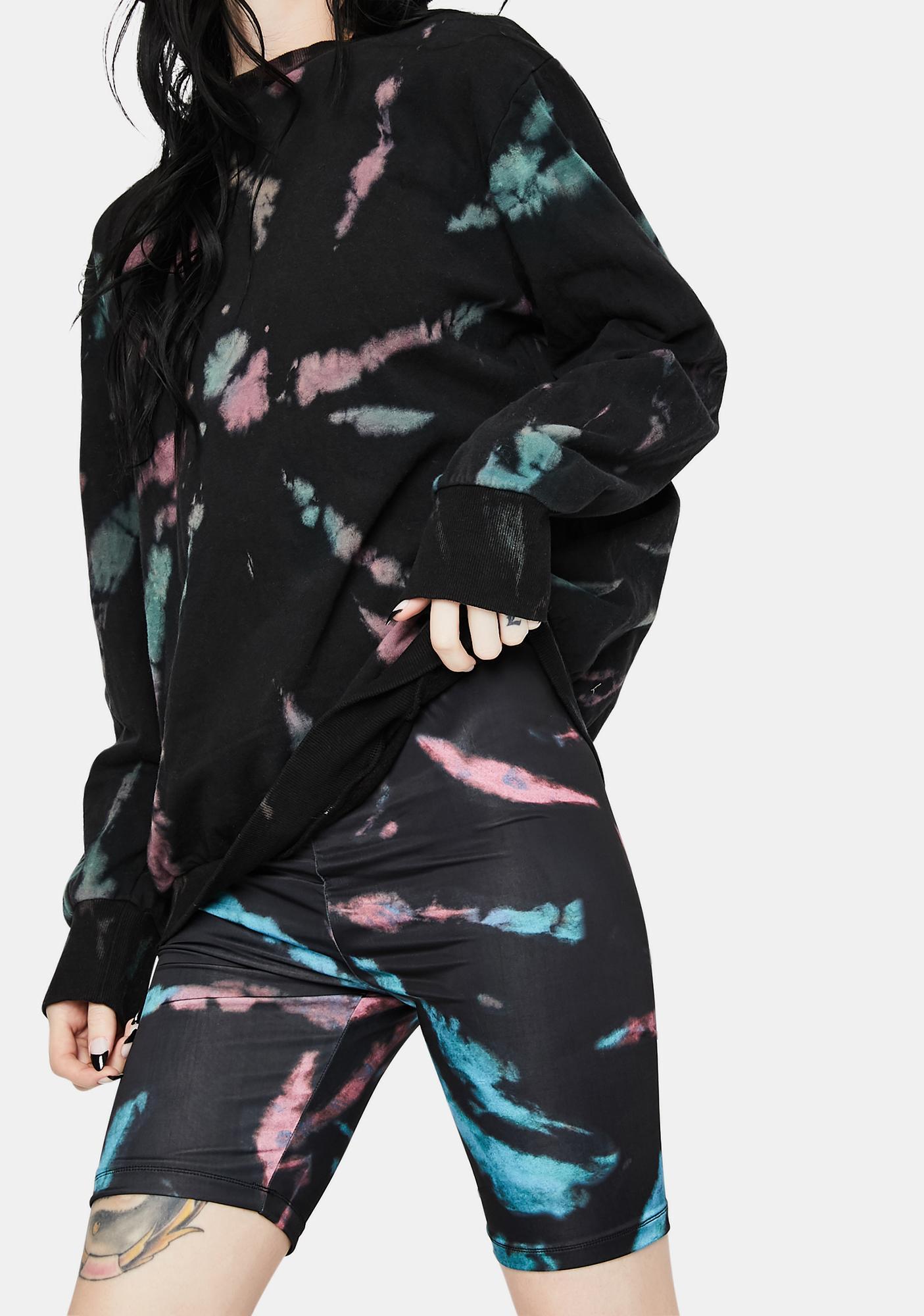AFRM Khloe Tie Dye Biker Shorts