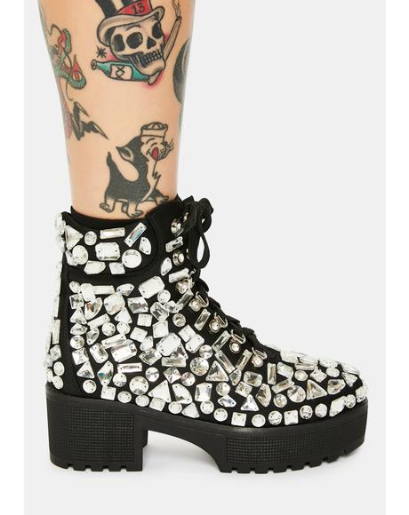 York Rhinestone Boots
