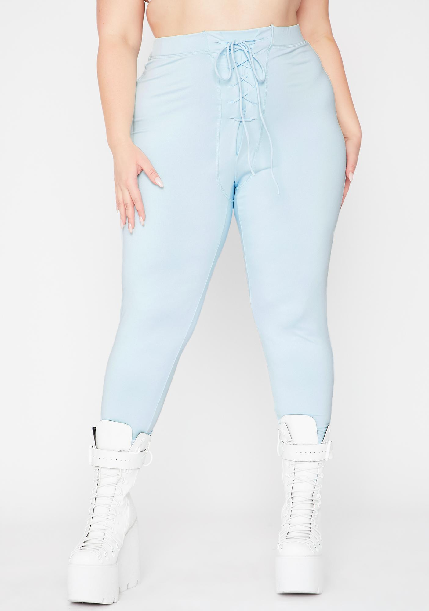 Sky She's On My Side Lace Up Leggings