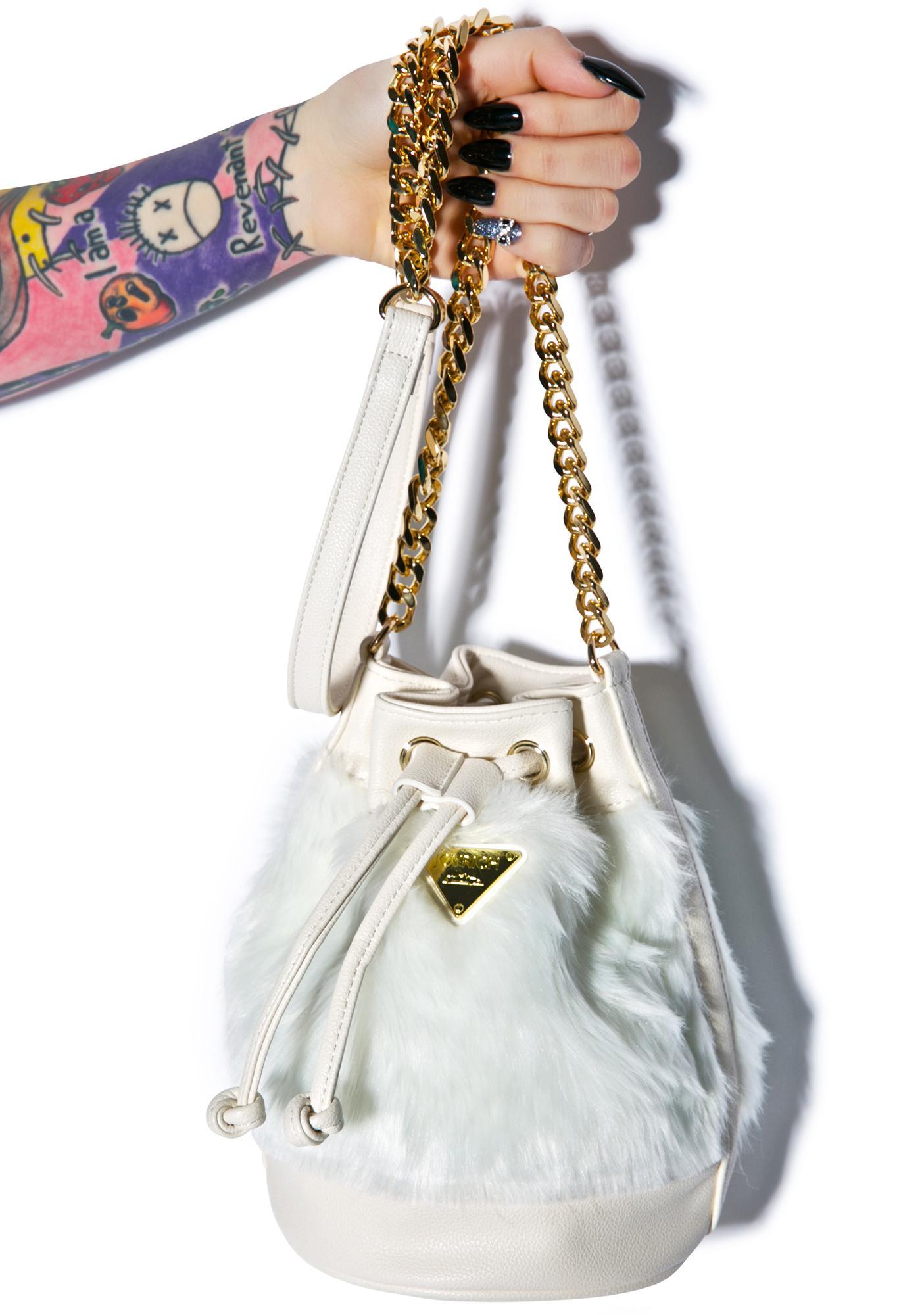 Joyrich Candy Fur Mini Bucket Bag