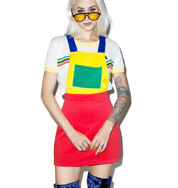 O Mighty ABC Pinafore Dress