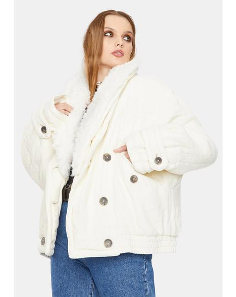 Georgie Oversized Bomber Jacket