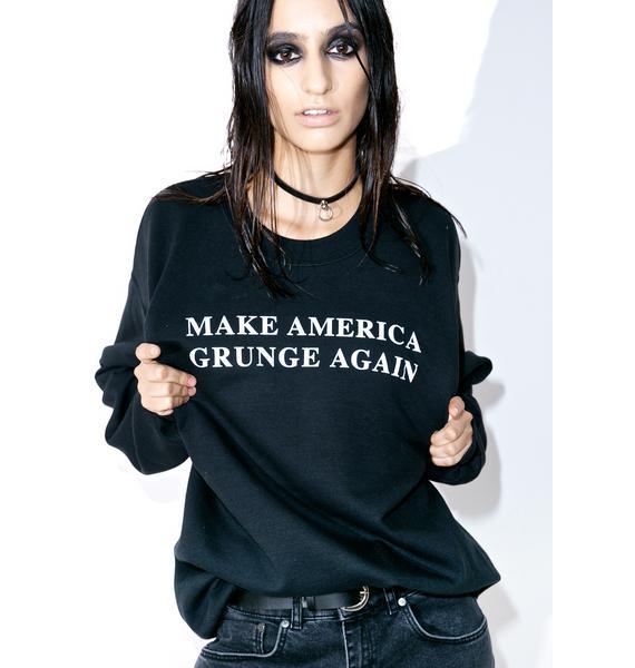 Petals and Peacocks Make America Grunge Sweatshirt