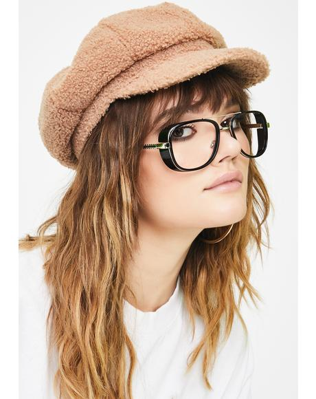 Mocha Static Cling Baker Boy Hat
