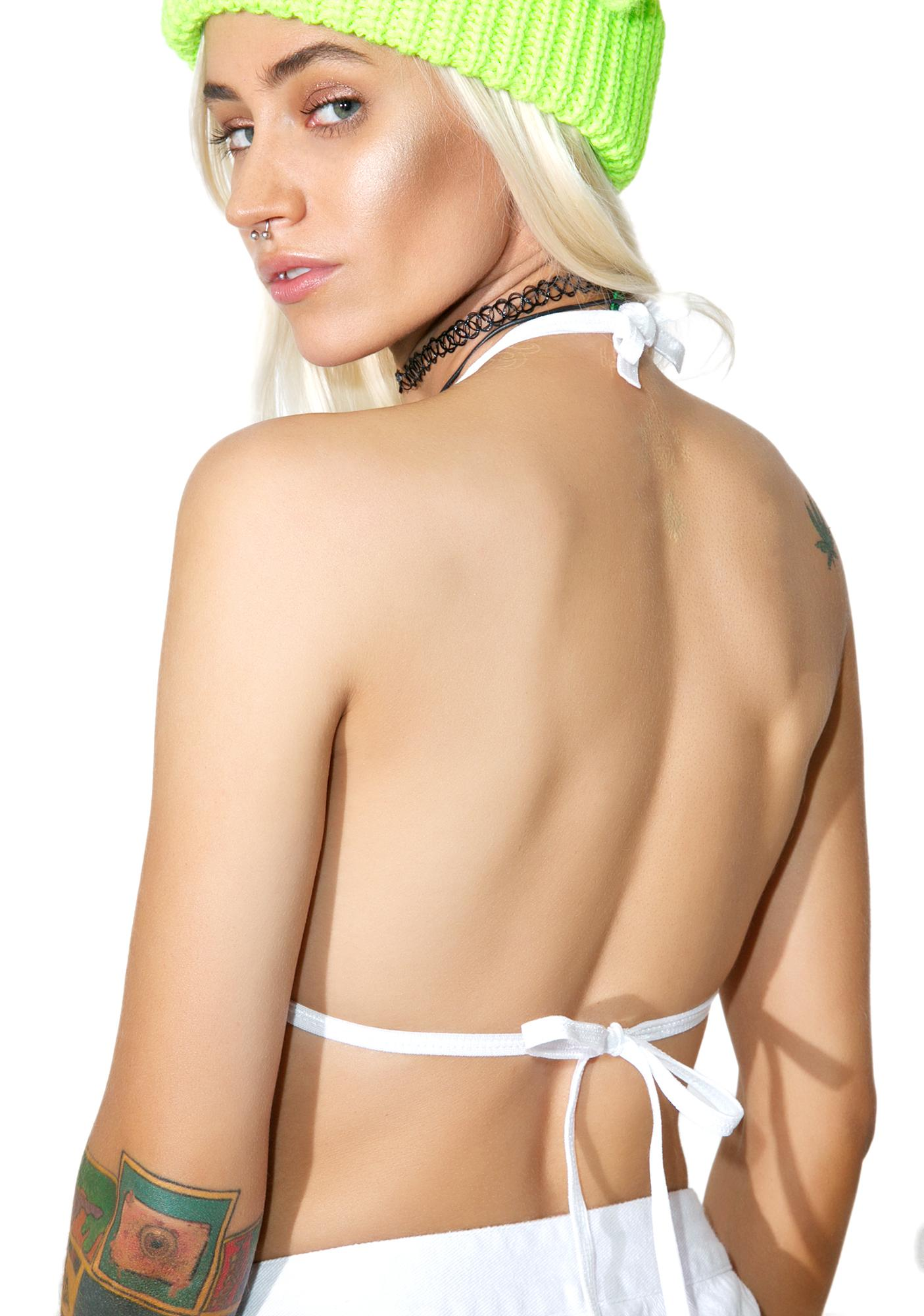 Indyanna Christina PVC Crop Halter Top
