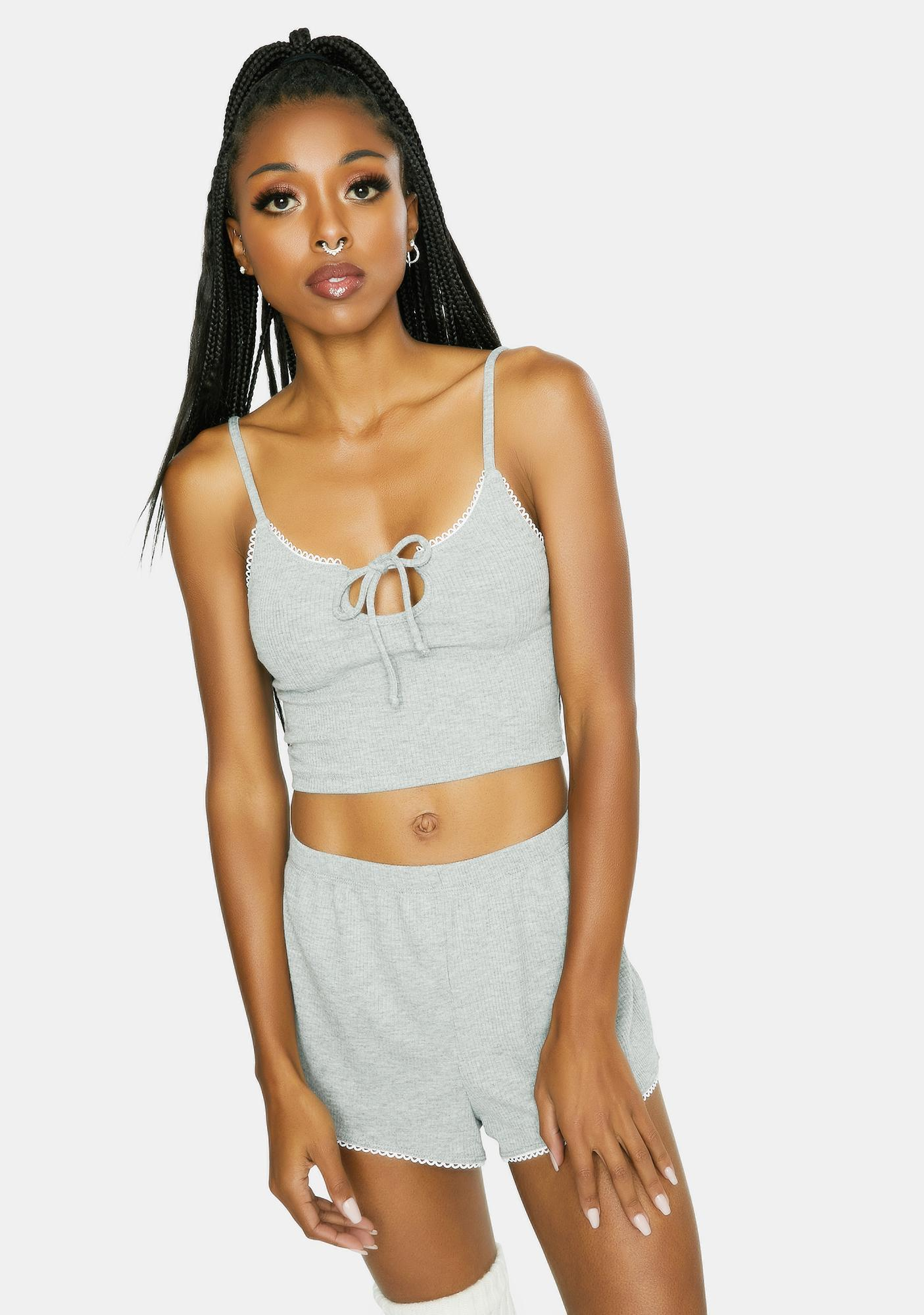 Dippin' Daisy's  Gray Chase Me Crop Tank