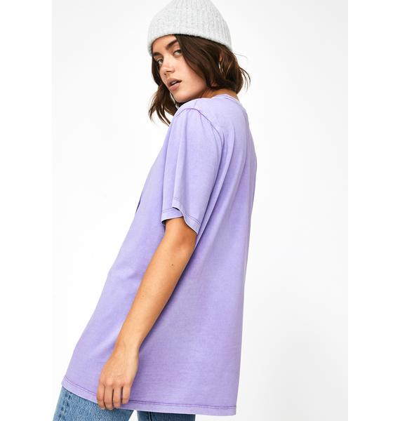 Lazy Oaf Over The Moon Dolphin Graphic Tee