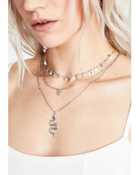 Slither On In Layered Necklace