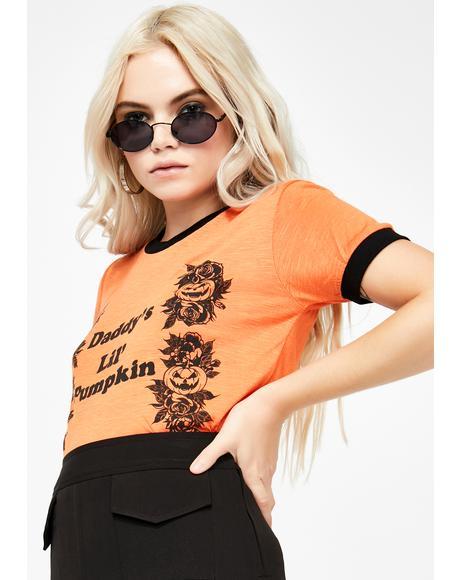 Daddy's Lil Pumpkin Ringer Tee
