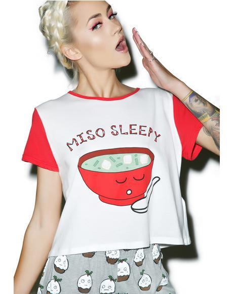 Miso Sleepy Crop Tee