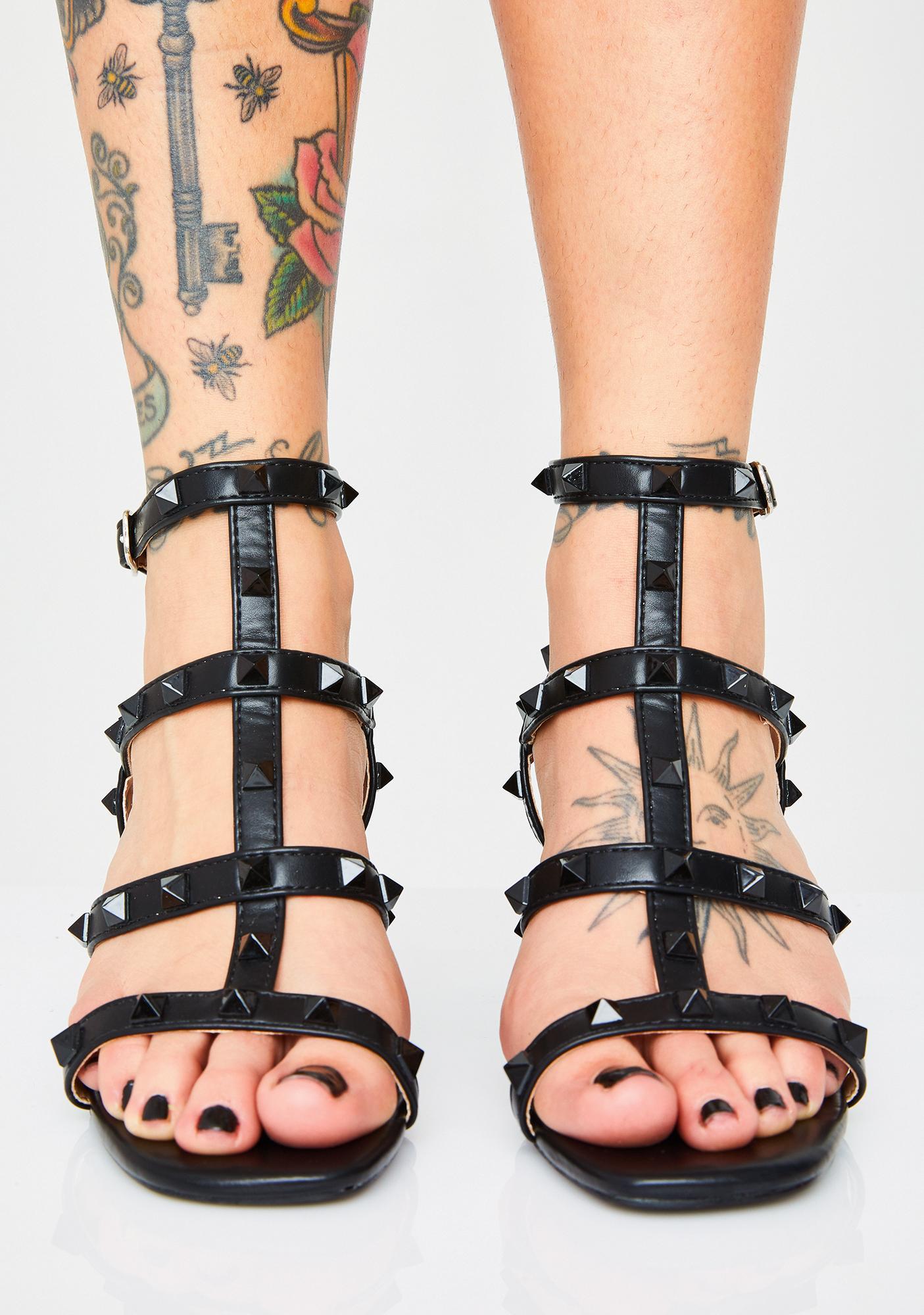 Public Desire Fashion Gang Studded Heels