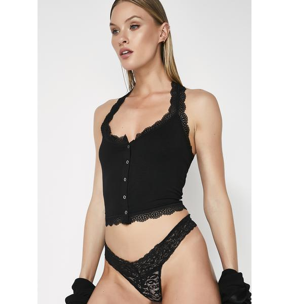 Night Heart's Desire Lace Thong