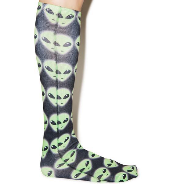 We Come In Peace Knee High Socks