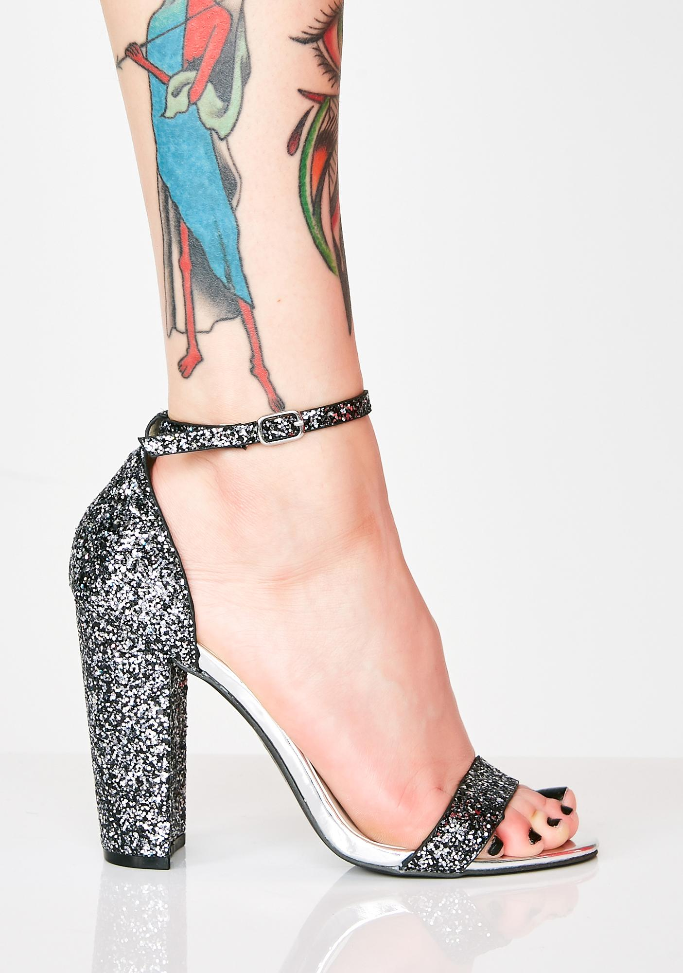 Grand Attraction Glitter Heels