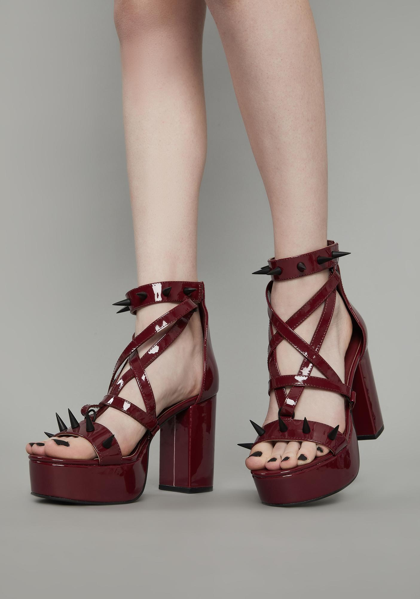 Widow Wine Killing Me Softly Spiked Heels