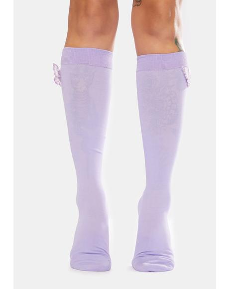 Iris Eyes Wide Open Knee High Socks