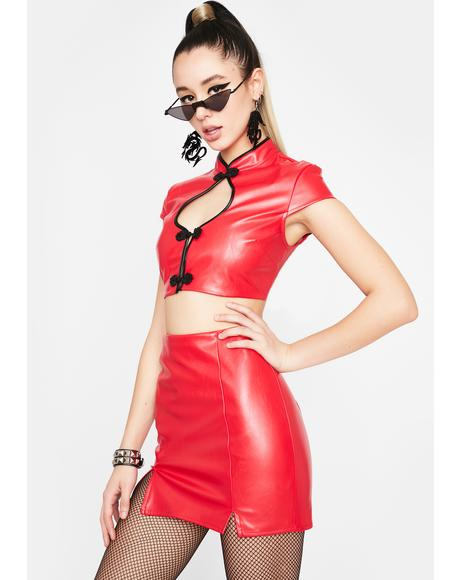 Cabaret Rouge Vegan Leather Set