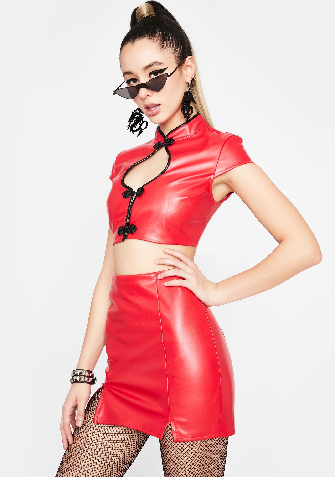 Cabaret Rouge Vegan Leather Set
