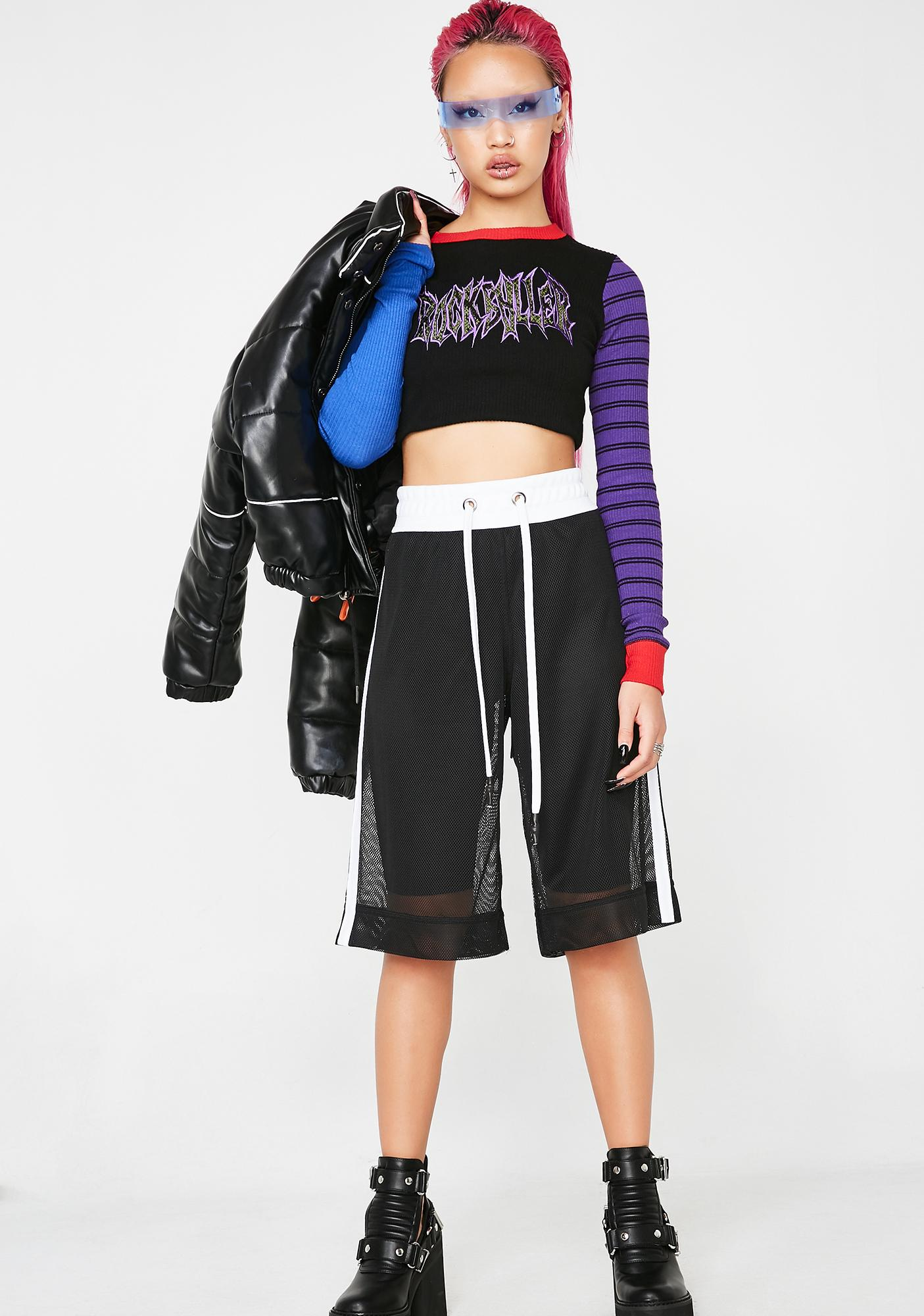 Kiki Riki Game On Mesh Shorts