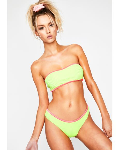 Neon Yellow Viva Swim Bottoms