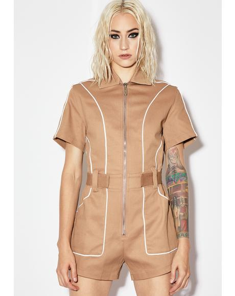 Natural Werkin' Girl Reflective Romper