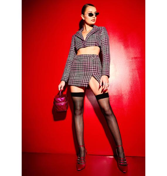 Poster Grl She's Been Mean Tweed Mini Skirt
