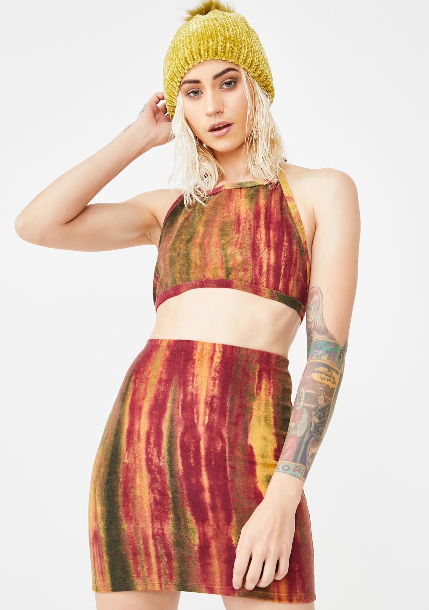 Why Not Us Volcano Set Up Skirt Set