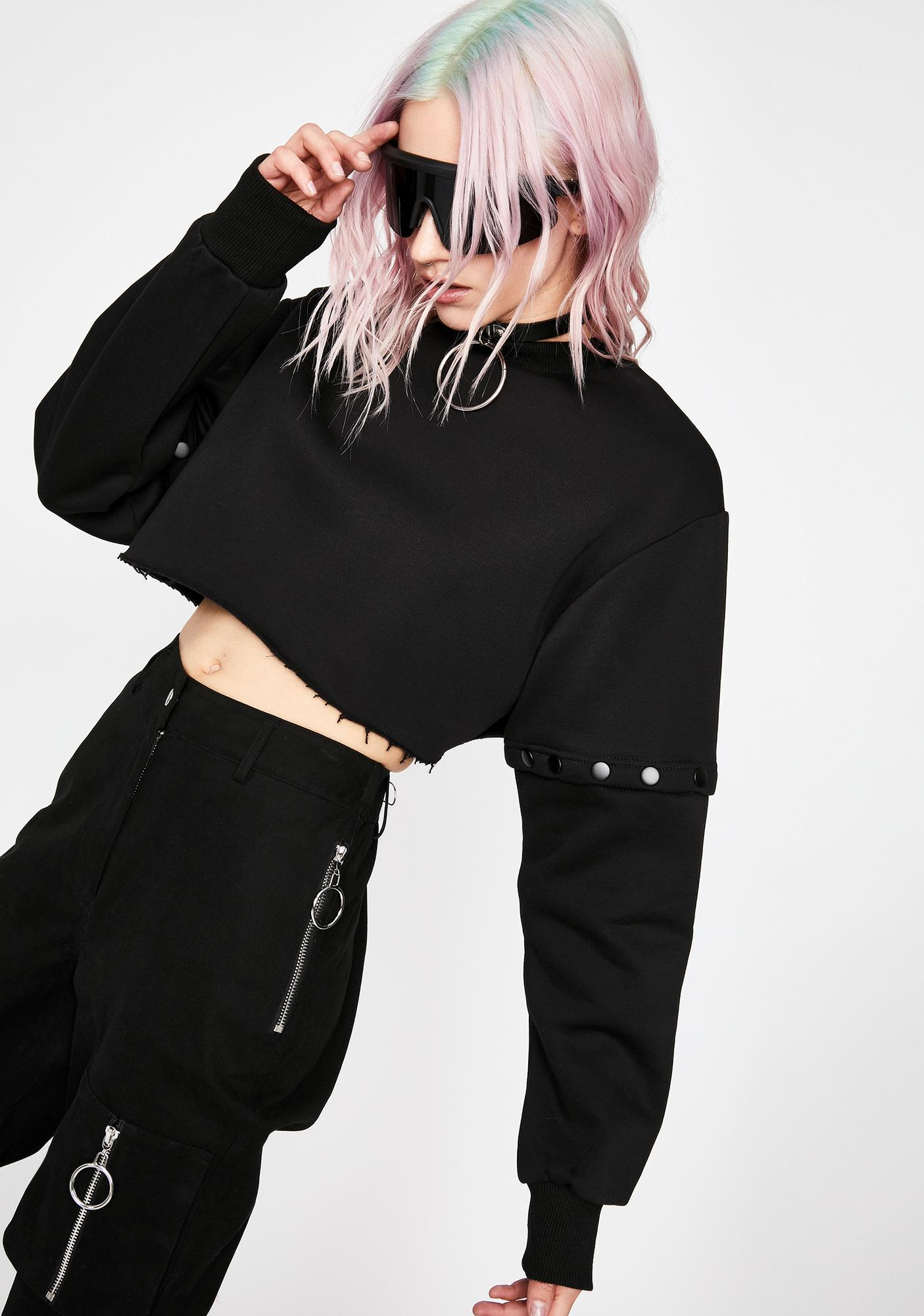 Current Mood Fatal Encounter Convertible Sweater