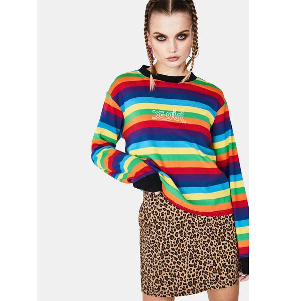 x-Girl Multi Stripe Top
