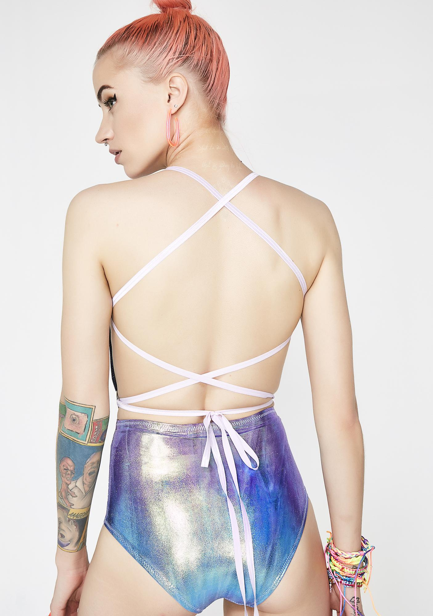 Seagypsy Couture Periwinkle Prism Half Moon Bodysuit