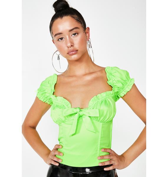I AM GIA Lime Naomi Top