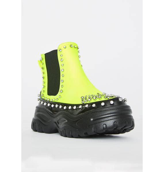 Caution In My Lane Platform Boots