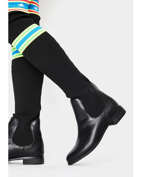 Freaky Class Star Sock Boots