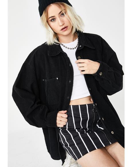 90s Corduroy Shirt Jacket