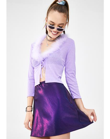 Pop Icon Iridescent Skirt